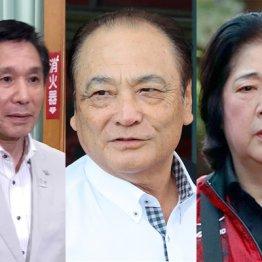 (左から)具志堅副会長、塚原光男副会長、塚原千恵子強化本部長