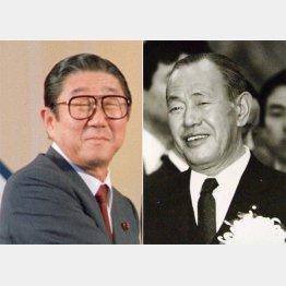 安倍晋太郎と田中角栄(C)共同通信社