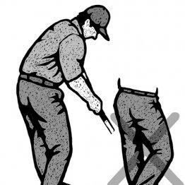 「ダウンスイングは左ひざが先、右ひざは後」