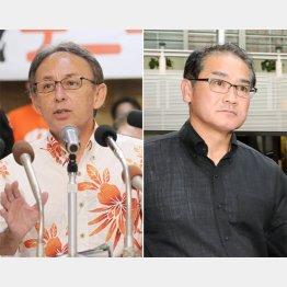 玉城デニー氏と佐喜真淳氏(C)日刊ゲンダイ