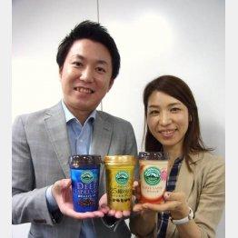 マーケティング開発部の片岡由依氏(左)と柳迫さやか氏(C)日刊ゲンダイ