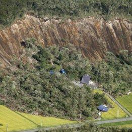 地震で発生した北海道厚真町の土砂崩れ現場