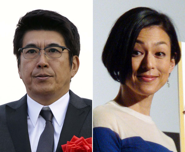 石橋貴明と鈴木保奈美(C)日刊ゲンダイ