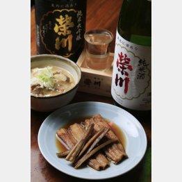 アナゴの煮物(700円)と牛筋煮込み(写真奥・400円)(C)日刊ゲンダイ
