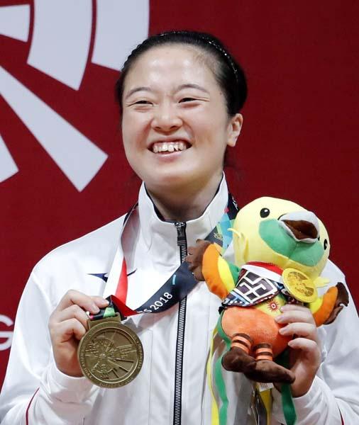 アジア大会で24年ぶりのメダルを獲得した安藤美希子選手(C)共同通信社