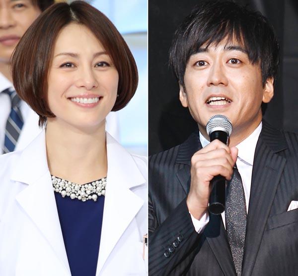 米倉涼子と安住紳一郎アナ(C)日刊ゲンダイ