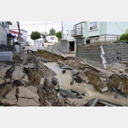北海道を襲った震度7の大地震(C)共同通信社