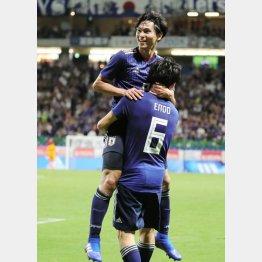 コスタリカ戦で2点目のゴールを決めたMF南野(C)Norio ROKUKAWA/Office La Strada