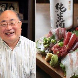 八百坂仁さん(左)と海鮮刺身5点盛