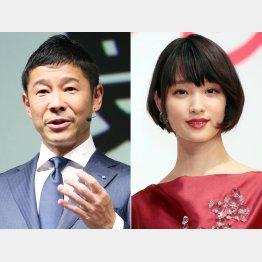 前澤社長と剛力彩芽(C)日刊ゲンダイ