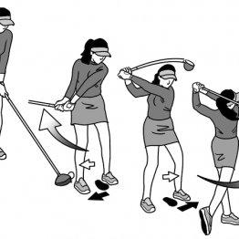 ステップを踏みながらスイング 下半身主導の感覚が養える