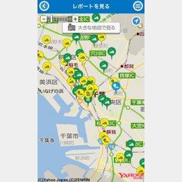 千葉市の「ちばレポ(ちば市民協働レポート)」(提供写真)