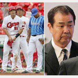 4番としてチームを引っ張る鈴木(写真左の左)と川端順氏(右)(C)日刊ゲンダイ