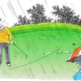 雨の日はロングパット厳禁 グリーンの外にもチャンスあり