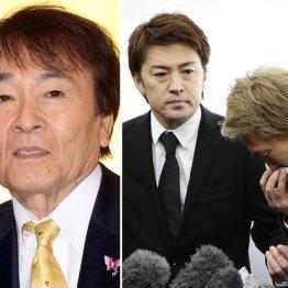 平尾さんの葬儀で喪主を務めた次男の亜希矢氏(左)と三男の勇気