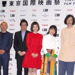 (左から)湯浅政明監督、阪本順治監督、松岡茉優、岸井ゆきの、今泉力哉監督