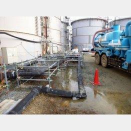 過去には汚染水タンク漏れも…(東京電力提供)