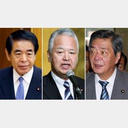 (左から)下村博文、甘利明、竹下亘3氏(C)日刊ゲンダイ