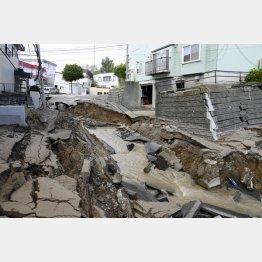 北海道でも台風接近直後に震度7の地震(C)共同通信社