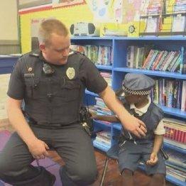 """外で遊べない難病6歳児と 心優しい警察官に生まれた""""友情"""""""