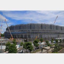 建設中の新国立競技場(C)日刊ゲンダイ