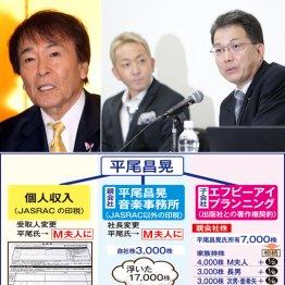 三男・平尾勇気氏と同席する鈴木氏(右)