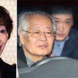 三田佳子(左)と渋谷署を後にする高橋祐也被告