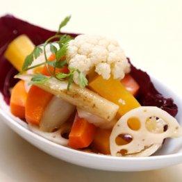 【季節野菜のマリネ】シャキシャキの根菜でさっぱり