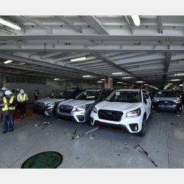 車両は前後30cm・両サイド10cmの間隔で並べられる(提供)スバル