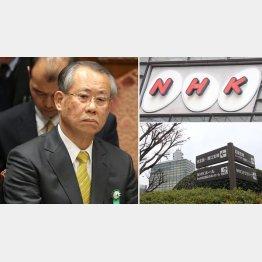 値下げを実地するNHKの上田良一会長(C)日刊ゲンダイ
