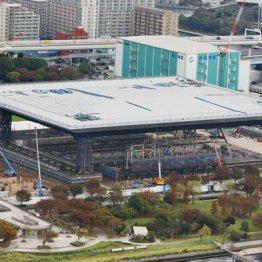 KYB製のダンパーが設置されていることが判明した建設中の五輪水泳センター
