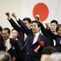 2018年8月、自民党山口県連の集会で、気勢を上げる安倍首相