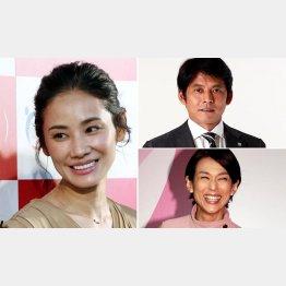 (左から時計回りに)吉田羊、織田裕二、鈴木保奈美(C)日刊ゲンダイ