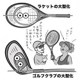 大型ヘッドはミスに強いがボールが右に飛び出しやすい