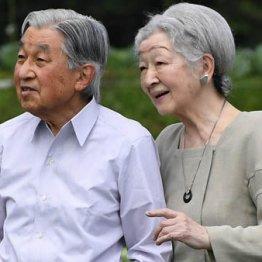 軽井沢で野菜畑を散策される天皇、皇后両陛下