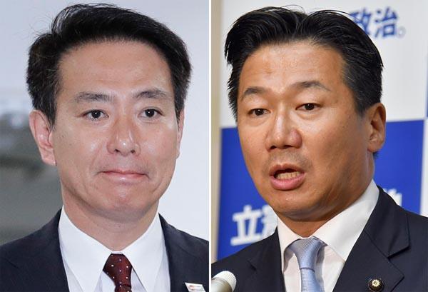 前原誠司(左)、福山哲郎の両議員/(C)日刊ゲンダイ