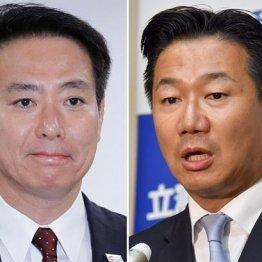 前原誠司(左)、福山哲郎の両議員