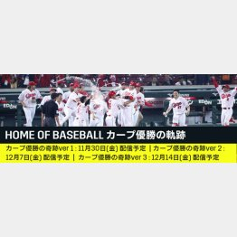 「HOME OF BASEBALL カープ優勝の軌跡」/(C)広島東洋カープ