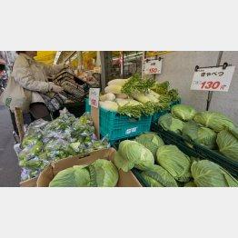 野菜の値段が上がる(C)日刊ゲンダイ