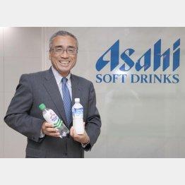 アサヒ飲料の岸上克彦社長(C)日刊ゲンダイ