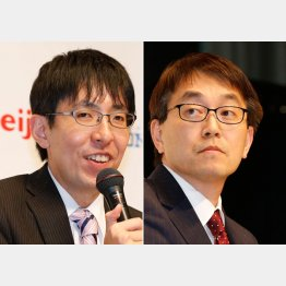 羽生善治竜王(右)と広瀬章人八段(C)日刊ゲンダイ