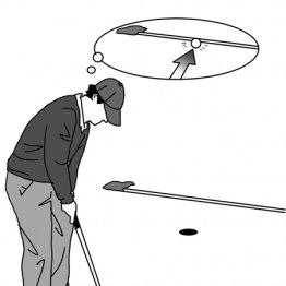 ショートパットは50センチでも1メートル先の距離感で打つ