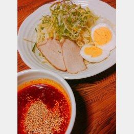 つけ麺中盛 5辛(提供写真)