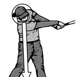 好調選手は切り返しゆっくり 頭を残してクラブを振り抜く