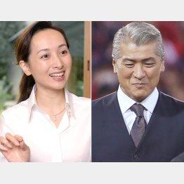近藤サト(左)と吉川晃司(C)日刊ゲンダイ