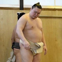 九州場所の休場を明らかにした後、朝稽古に姿を現した白鵬
