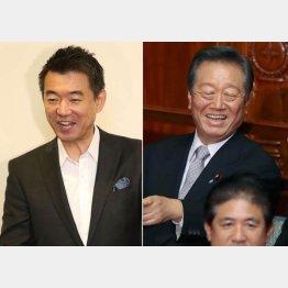 橋下徹前大阪市長と小沢一郎自由党代表(C)日刊ゲンダイ