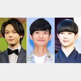 左から中村倫也、瀬戸康史、千葉雄大(C)日刊ゲンダイ