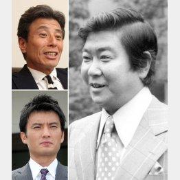 右から時計回り石原裕次郎、徳重聡、舘ひろし(C)共同通信社