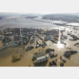 豪雨被害は続く(C)共同通信社